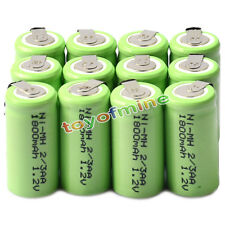 12x Ni-MH 1.2V 2/3AA 1800mAh rechargeable battery NI-MH Batteries For Phone Toy