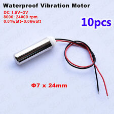 10PCS DC 1.5V~3V Waterproof Micro Vibration Coreless Motor Vibrator For Massager