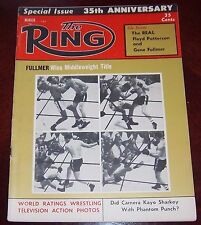 The Ring Magazine March 1957 Ray Robinson / Gene Fullmer  Collectable