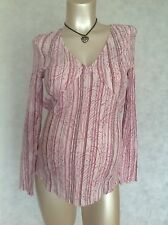 [104] Next Maternity Pink Long Sleeved Cotton Shirt Top Size 10