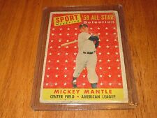1958 TOPPS MICKEY MANTLE ALL STAR IN FAIR SHAPE