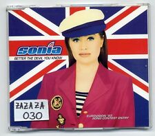 Sonia Maxi-CD Better The Devil You Know - UK 3-track - ESC Eurovision - evans