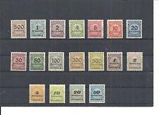 Deutsches Reich, 1923 Michelnummern: 313 - 330 **, postfrisch**, Michelwert € 12