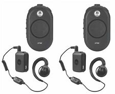 2 Motorola CLP1060 Two-Way Radios with Bluetooth kit. Buy 6 radios get one free!