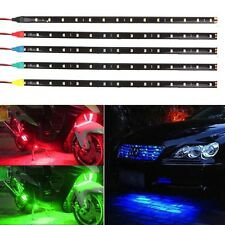 30cm 15 LED Waterproof Flexible Car Strip Light Bar Motor Vehicle Decor Lamp 12V