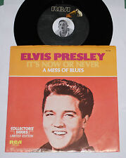 "ELVIS PRESLEY 45~It's Now Or Never/ A Mess Of Blues~RCA Clean Vinyl 7"" w/ Pic Sl"