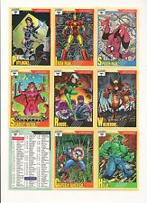 Marvel Universe Series 2 Complete set ( 162 Cards )     1991 Impel