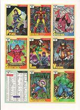 Marvel Universe Series 2 Complete set ( 162 Cards )     1991 Impel