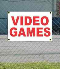 2x3 VIDEO GAMES Red & White Banner Sign NEW Discount Size & Price FREE SHIP