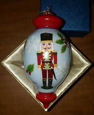 """2015 """"Li Bien"""" Pier One Glass Ornament """"Nutcracker"""" - Great Shape Hand Painted"""