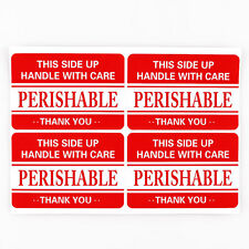 100 2x3 Fragile handle with care PERISHABLE Shipping Labels Stickers