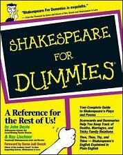 Shakespeare for Dummies by John Doyle and Ray Lischner (1999, Paperback)