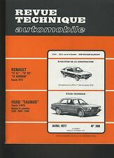 (C6)REVUE TECHNIQUE AUTOMOBILE FORD TAUNUS / RENAULT 17 TL-TS-GORDINI