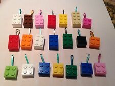 20 PC LOT Zipper Pulls LEGO Assorted Color Teacher Prize Birthday Favor Girl Boy