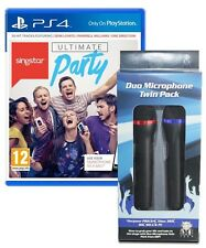 PS4 SINGSTAR ULTIMATE PARTY + 2 Wireless Singstar Microphones Games