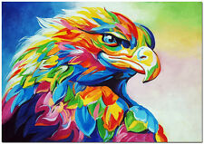 American Eagle Oil Painting - Hand Painted Modern Impressionist Bird Paint Art