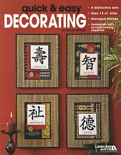 Cross Stitch Booklet ~ Quick and Easy Decorating Home Decor #LA3561 OOP SALE!