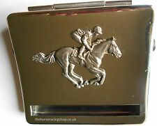 King Size Chrome Cigarette Rolling Machine Kit Horse Horse Racing Badge New