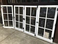 Lot 4 Antique Casement Windows Solid Wood Architectural Salvage (set 2 Of 2)