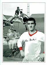 Bill FOULKES Signed Autograph Manchester United 16x12 Montage Photo AFTAL COA