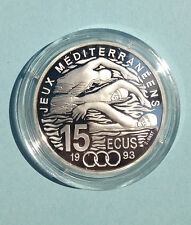1993 France Large Silver Proof 100 fr/15 ecu Swimming/Liberty