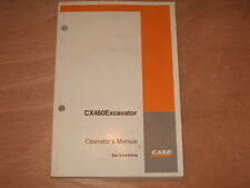 CASE CX460 EXCAVATOR OPERATION & MAINTENANCE MANUAL 6-34450NA