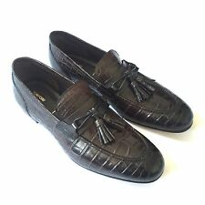 NWT $11.3k TOM FORD Men's Brown Genuine Crocodile Skin Leather Loafer AUTHENTIC