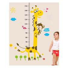 Vinyl Wall Decal Sticker Giraffe Monkey Height Chart Super For Kids Bedroom New