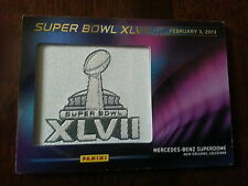 2013 PANINI SUPER BOWL XLVII PATCH CARD MERCEDES BENZ SUPERDOME RAVENS 49ERS