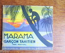 Livre d'activité pour enfant  MARAMA GARÇON TAHITIEN Gomettes état neuf 1950