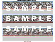 HO Slot Racing Open Grandstand Bleachers Decal Sheet #09