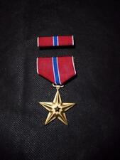 Genuine US Army Bronze Star Medal / Decoration and Ribbon Pin