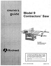 Delta 34-619 Model 9 Contractors Table Saw Instruction Manual