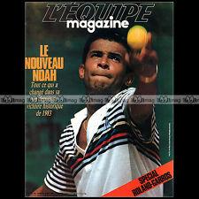 L'EQUIPE N°195 YANNICK NOAH MARAJO TIRIAC LARTIQGUE SPECIAL ROLAND-GARROS 1984