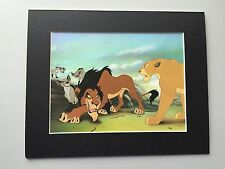 SCAR~SHENZI~BANZAI & ED~SIMBA~LION KING~8 X 10 Mat Print~ON THE PROWL~NEW