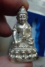 THAI SILVER  GILT KRING   BUDDHA PROTECTIVE  AMULET  SHRINE TEMPLE CHARM BASE =