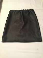 Womens Black Faux Leather Short Skirt Primark New Without Tags
