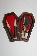 Vampire Killing Slayer Hunter Kit Coffin Halloween Buffy Twilight Handmade Red