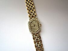 Geneve Diamond Bezel & Diamond Dial 14K Yellow Gold Watch
