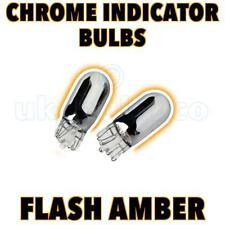 2 X 501 T10 W5w cromo plateado lado repetidores coche Bulbos Flash brillante ámbar
