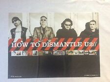 How to Dismantle U2 Island Records Group Rock Promo Music Poster Memorabilia