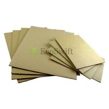"25 5x7 Corrugated Cardboard Pads Filler Inserts Sheet 32 ECT 1/8"" Thick 5"" x 7"""