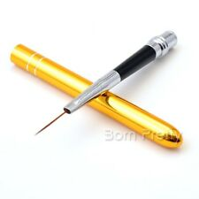 Yellow Nail Art Acrylic Brush Nail Painting Drawing Ongle Liner Pen Brush Tool