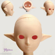 Obitsu 1/6 Figure 25cm 27cm Female Body Open Eye Hole Pixy Ear Head White Skin