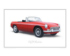 MGB Roadster - Limited Edition Classic Sportscar Print Poster by Steve Dunn