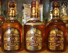 WHISKY CHIVAS REGAL 12 YEARS OLD (lot 3 bottles+1 box) ,VINTAGE , CL75 , 43%