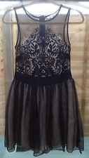 DIAMONDS By Julien Macdonald Size 10 Black Lace Dress - Wedding, Races, Cocktail