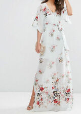 Ladies TALL SALON Maxi Dress With Embroidery & Floral Print UK 12/EU 40/US 8