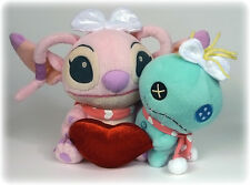 LILO & STITCH - ANGEL & SCRUMP 20 cm Kawaii SEGA 2009 JAPON Disney Plush Rare