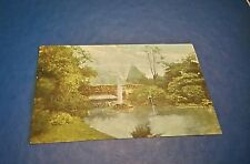 ANTIQUE POST CARD LONDON  RUSTIC BRIDGE BATTERSEA PARK FRANKED POSTED 1907 VGC